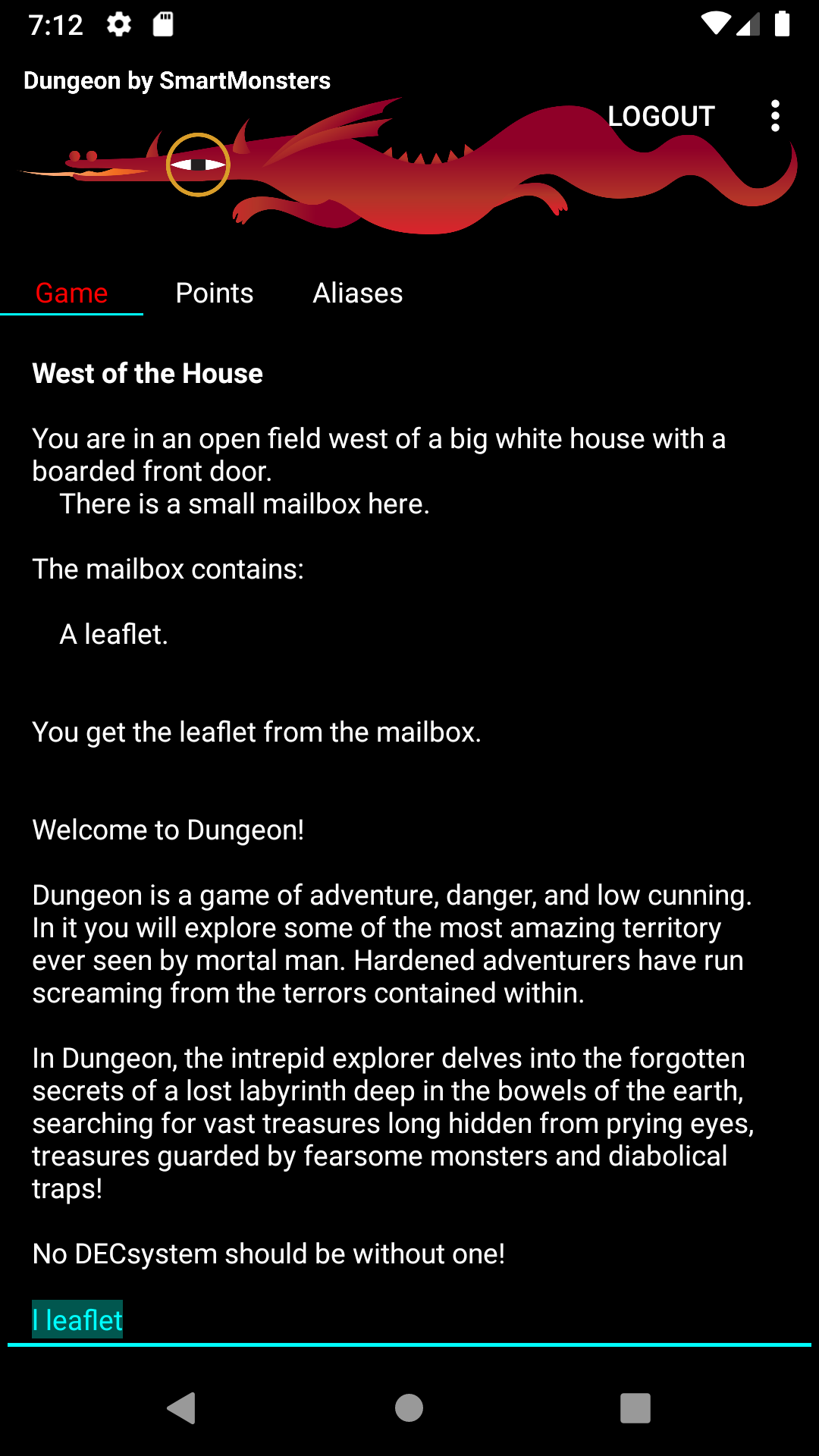 dungeon Android client