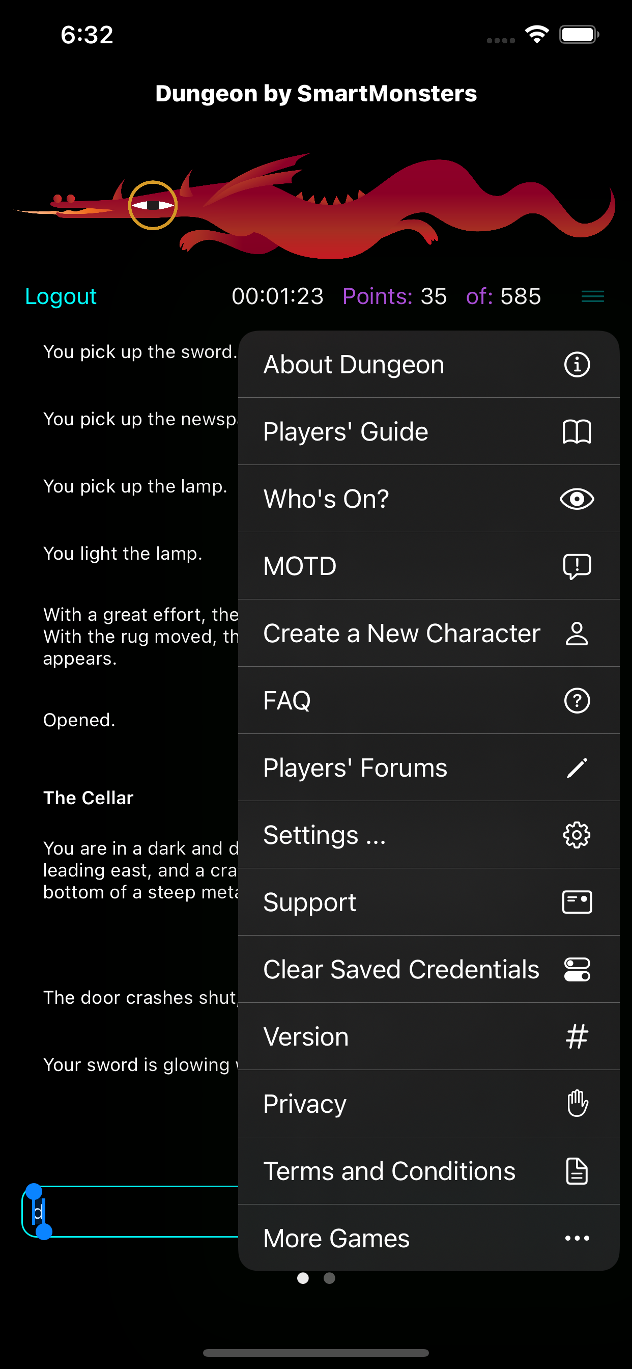 Dungeon iPhone client