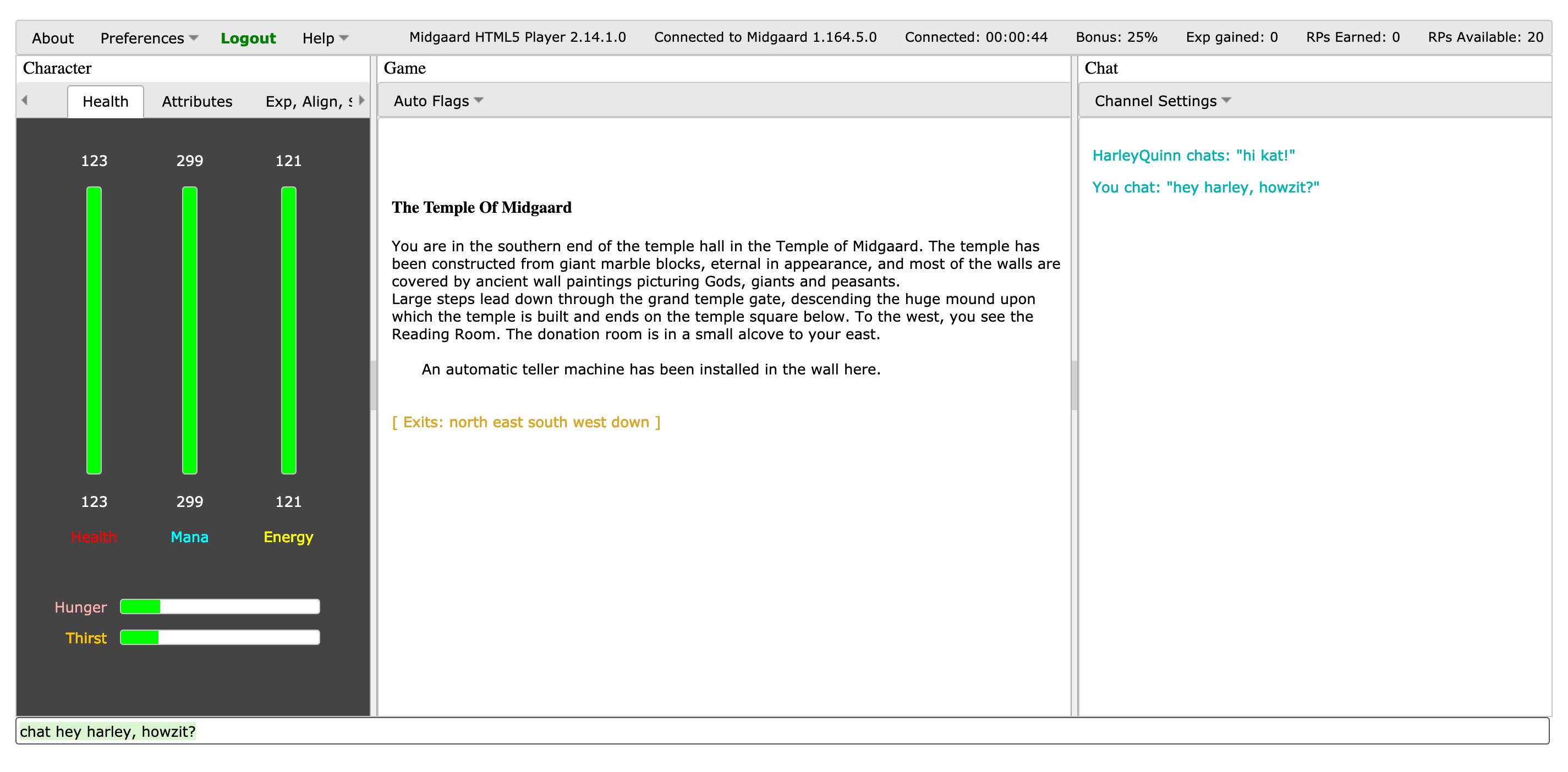 Midgaard Web client