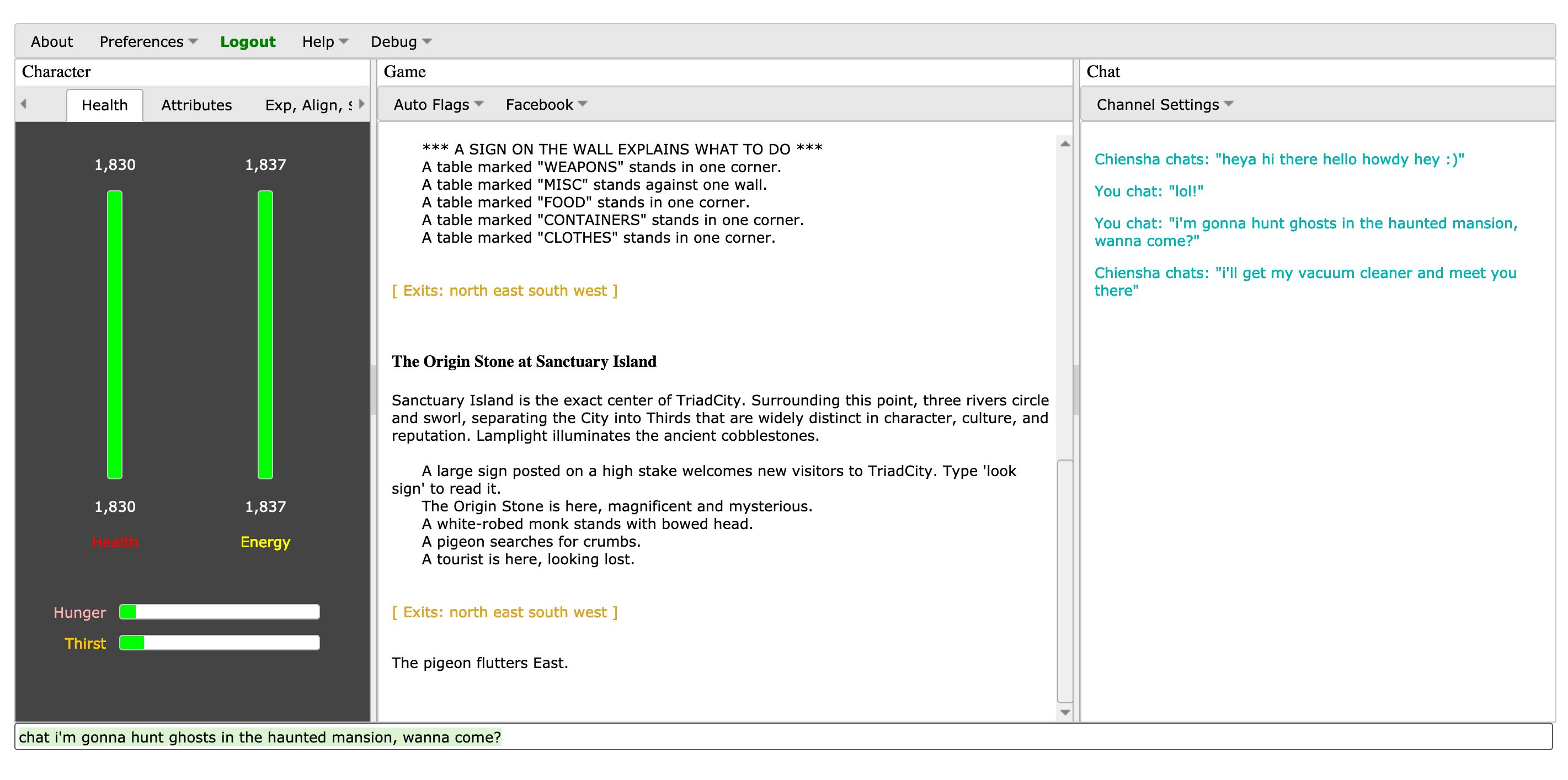 TriadCity Web client